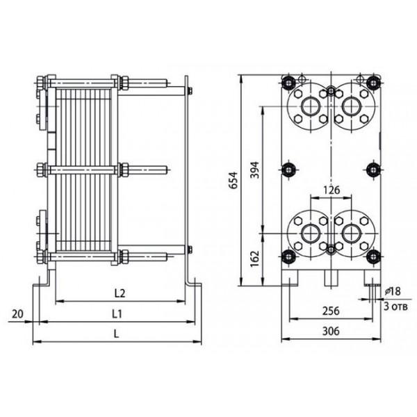 Купить на пластинчатый теплообменник ридан нн Кожухотрубный конденсатор ONDA C 41.305.2400 Кострома