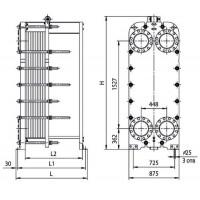 Пластинчатый теплообменник Ридан НН 113 Ду 250