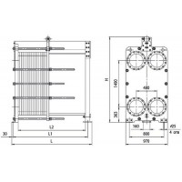 Пластинчатый теплообменник Ридан НН 121 Ду 300