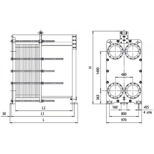 Пластинчатый теплообменник ридан нн 4а цена Кожухотрубный конденсатор Alfa Laval CDEW-520 T Обнинск