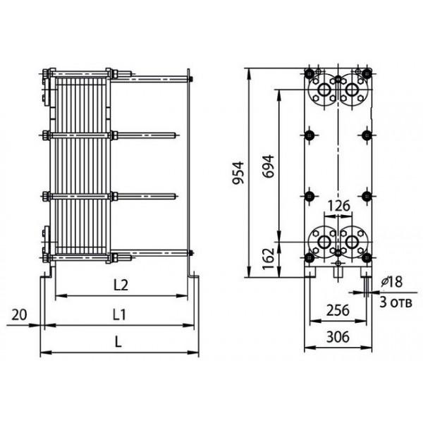 Ридан 14 характеристика Пластинчатый теплообменник Alfa Laval M15-BFD Чита