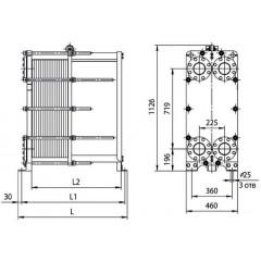Пластины теплообменника Ридан НН 121 Комсомольск-на-Амуре охладительный теплообменник