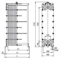 Разборный пластинчатый теплообменник APV N35 DH Электросталь