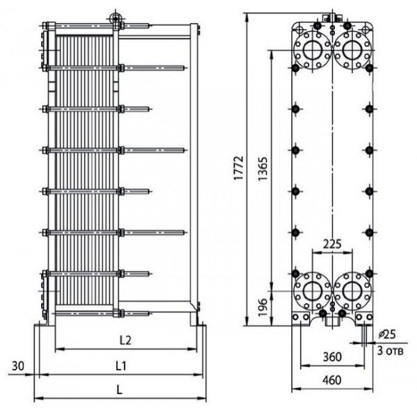 Теплообменник ридан 47 Кожухотрубный испаритель Alfa Laval DET 535 Оренбург