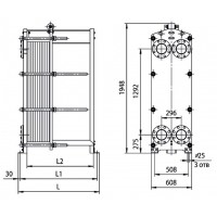 Пластинчатый теплообменник Ридан НН 62 Ду 150
