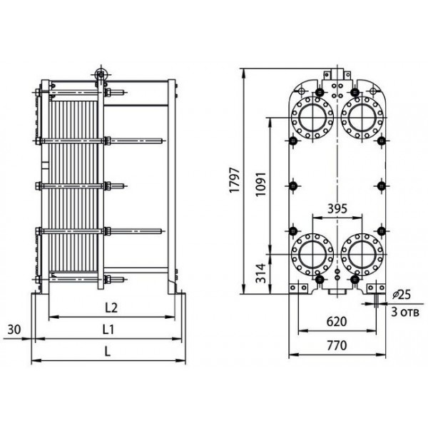 Теплообменник hh 65 Пластины теплообменника Tranter GL-145 N Махачкала