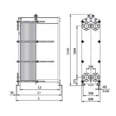 Пластинчатый теплообменник Sondex S110 Жуковский Кожухотрубный конденсатор ONDA C 41.305.2400 Набережные Челны